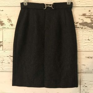 Banana Republic tweed pencil skirt w/belt detail 2